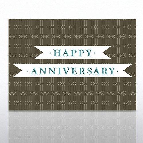 Ribbon Happy Anniversary Greeting Card
