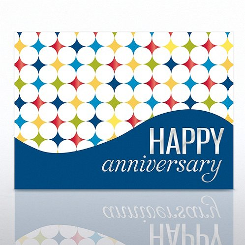 Diamonds Happy Anniversary Greeting Card