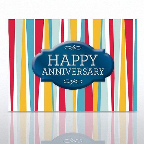Stripes Happy Anniversary Greeting Card