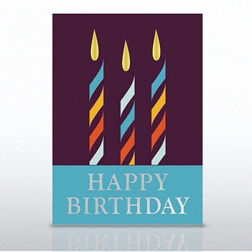 Candle Trio Happy Birthday Greeting Card