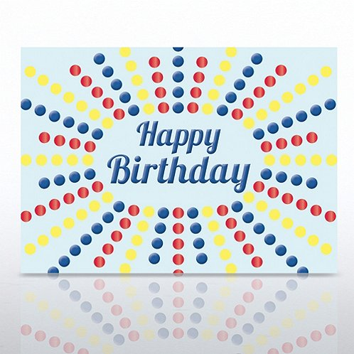 Colored Dots Happy Birthday Greeting Card