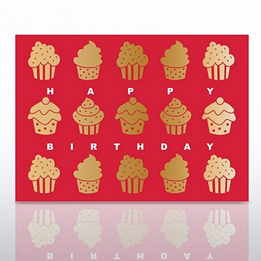 Grand Events - Happy Birthday Gold Cupcakes
