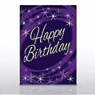 Grand Events - Happy Birthday Purple Cosmic
