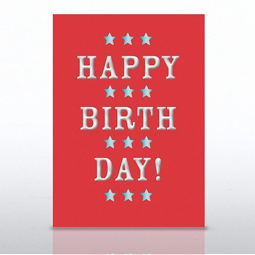 Red Happy Birthday Greeting Card