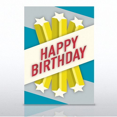 Shooting Stars Happy Birthday Greeting Card