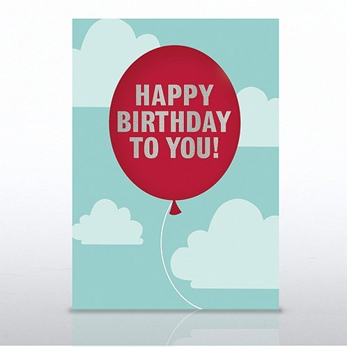 Red Balloon Happy Birthday to You Greeting Card