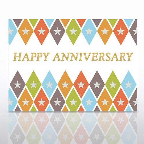 Anniversary Argyle Greeting Card