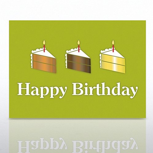Birthday Cakes Greeting Card
