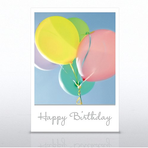 Birthday Photo Balloons Greeting Card