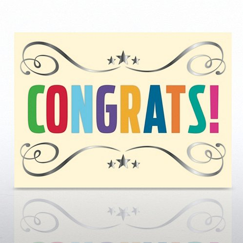 Congrats Swirl Greeting Card