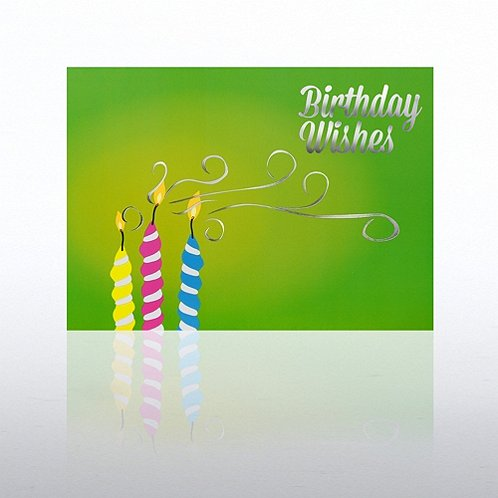 Candles Happy Birthday Greeting Card