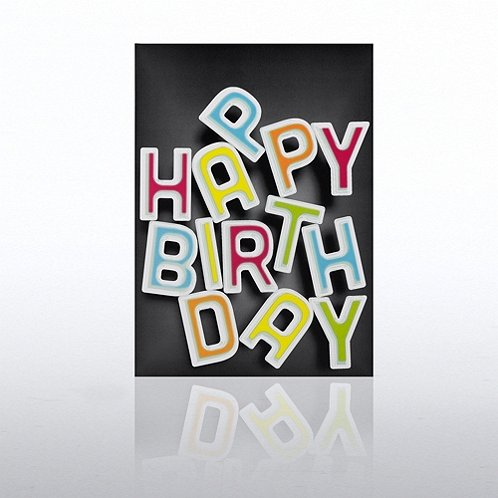 Letters Happy Birthday Greeting Card