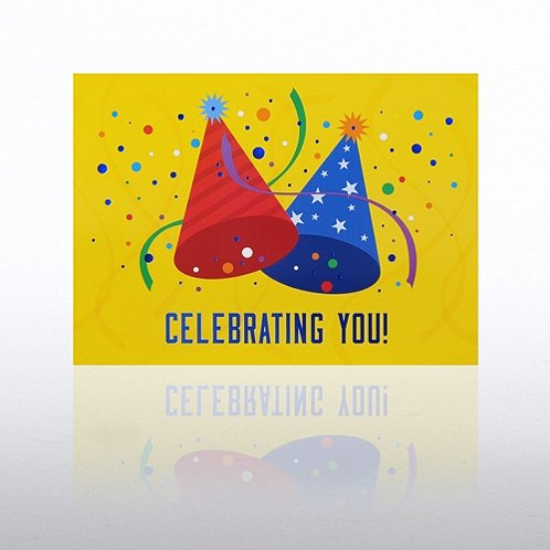 Party Hats Happy Birthday Greeting Card