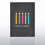 Classic Celebrations Card - Chalkboard: Birthday Wishes