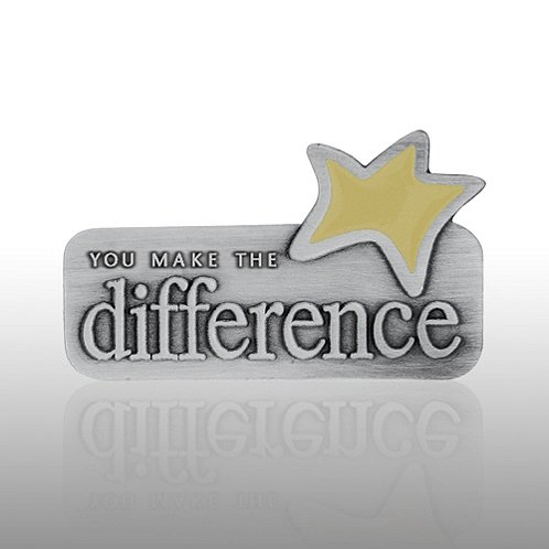 You Make the Difference Yellow Star Lapel Pin