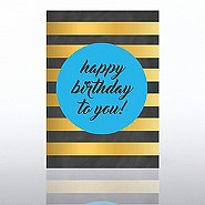Classic Celebrations Card-Chalkboard: Happy Birthday Stripes