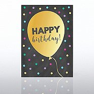 Classic Celebrations Card -Chalkboard: Happy Birthday Ballon