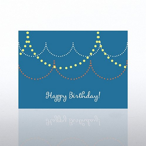 Banner Dots Happy Birthday Greeting Card