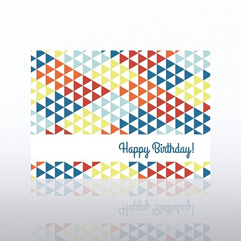 Triangles Happy Birthday Greeting Card