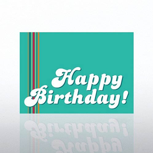 Groovy Happy Birthday Greeting Card