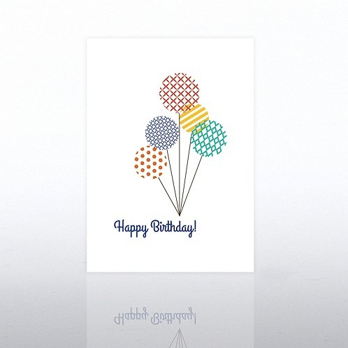 Pattern Balloons Happy Birthday Greeting Card