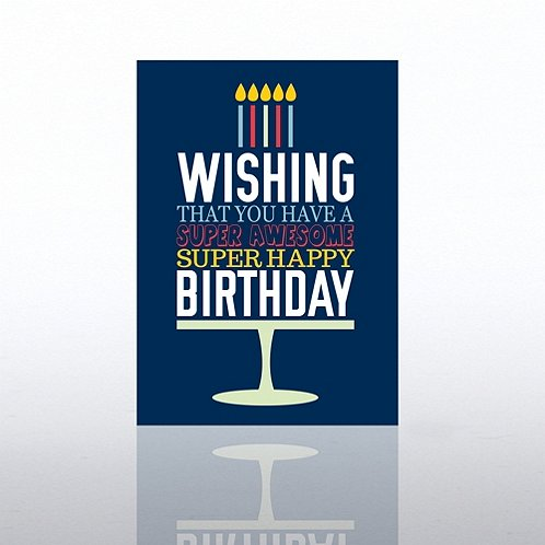Word Cake Happy Birthday Greeting Card