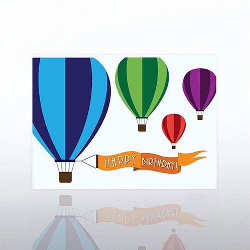 Hot Air Balloons Happy Birthday Greeting Card