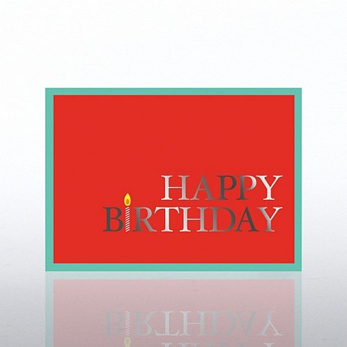 Candle Happy Birthday Greeting Card
