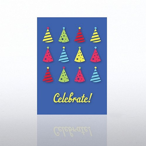 Celebrate Hats Greeting Card