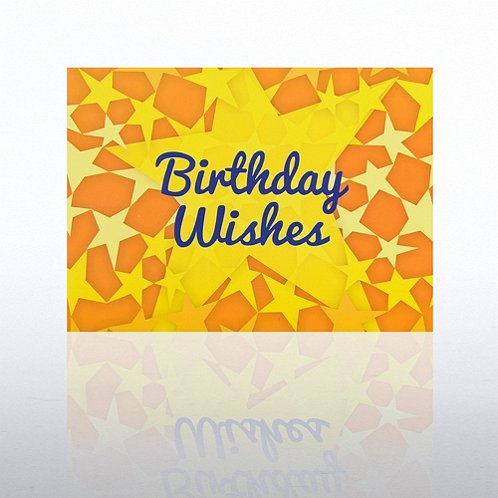 Yellow Stars Happy Birthday Greeting Card