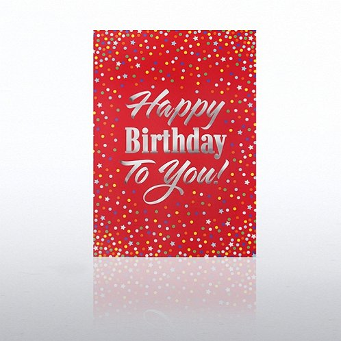 Confetti Happy Birthday Greeting Card