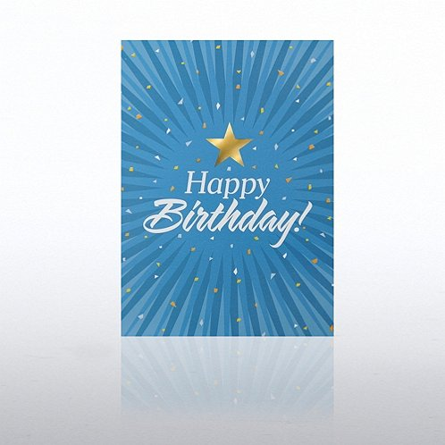 Burst Happy Birthday Greeting Card