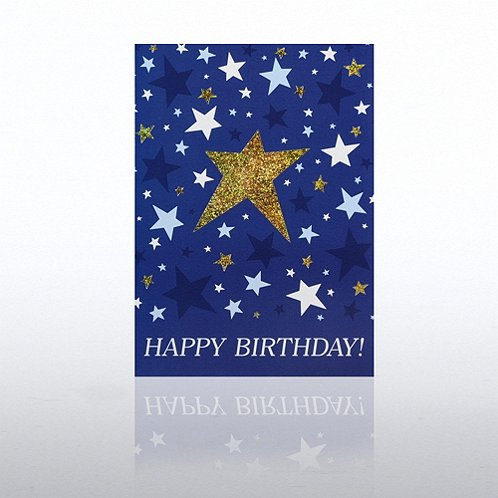 Shining Stars Happy Birthday Greeting Card