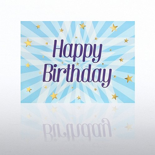 Stars Bursting Happy Birthday Greeting Card