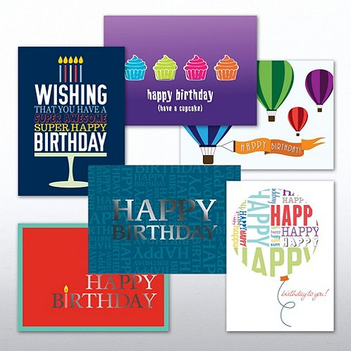 Birthday Wishes Greeting Card Assortment
