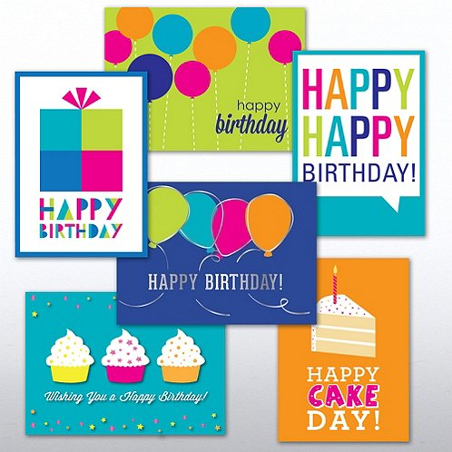Birthday Brights Greeting Card Assortment