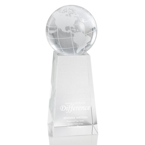 Globe Tower Crystal Trophy