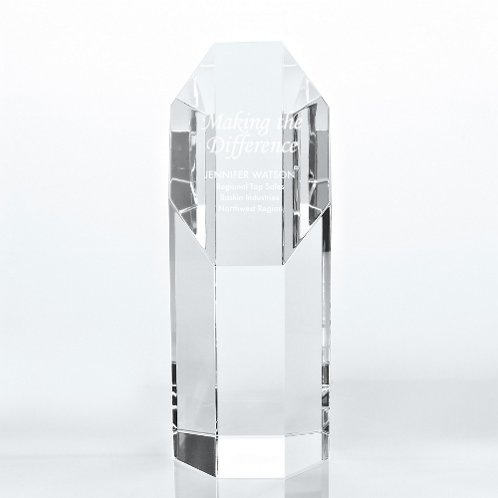 Octagon Crystal Trophy