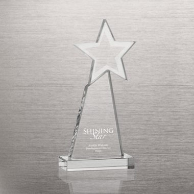 Beaming Star Crystal Trophy
