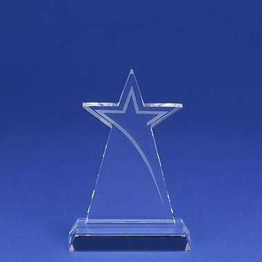 Etched Crystal Star Trophy