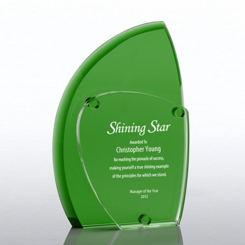 Green Eclipse Crystal Award