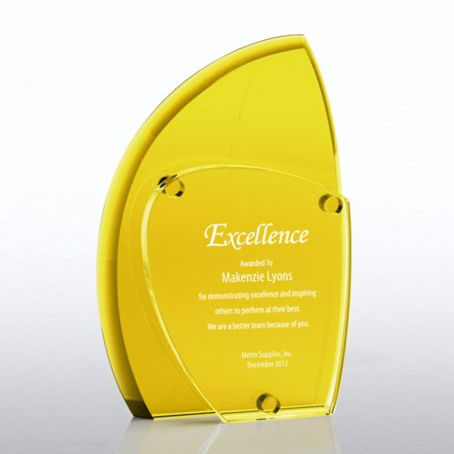 Yellow Eclipse Crystal Award