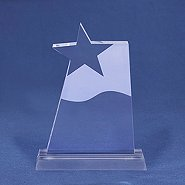 Frosted Crystal Star Trophy