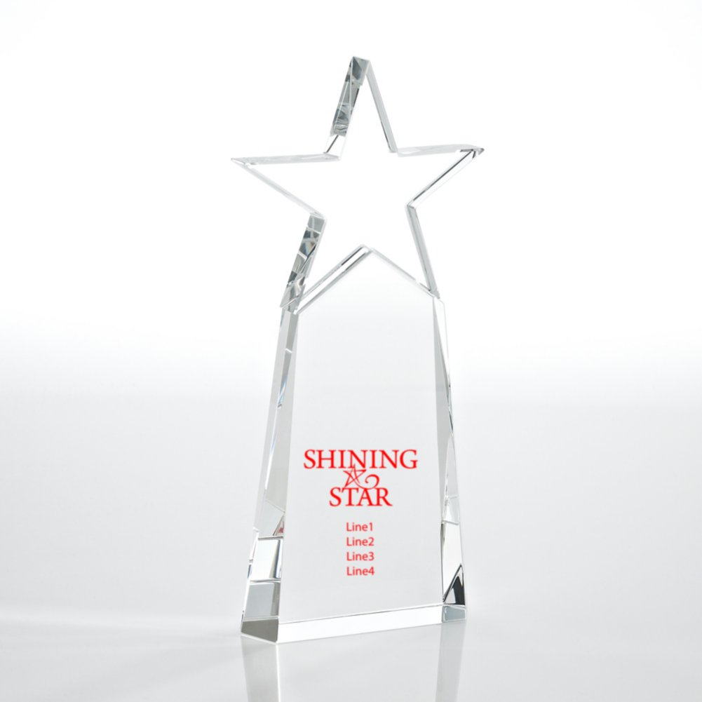 Crystal Star Pinnacle Trophy - Cobalt