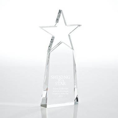 Crystal Star Pinnacle Trophy - Clear