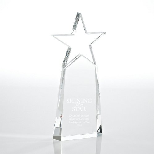 Clear Star Pinnacle Crystal Trophy