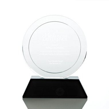 Elite Black Accent Trophy - Round