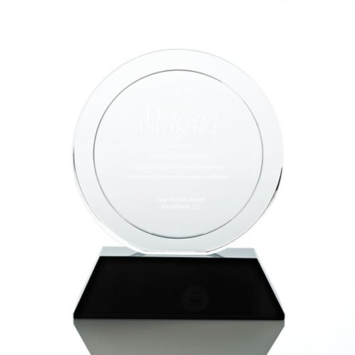Round Elite Black Accent Trophy