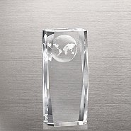 Beveled-Edge Globe Impression Trophy