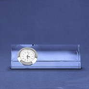 Silver Accent Crystal Award Clock - Small